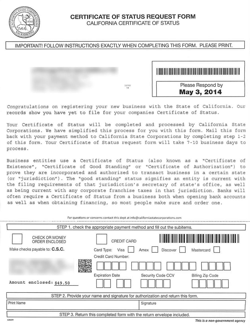 Brian Ac Cochran California Corporate Compliance Annual Minutes
