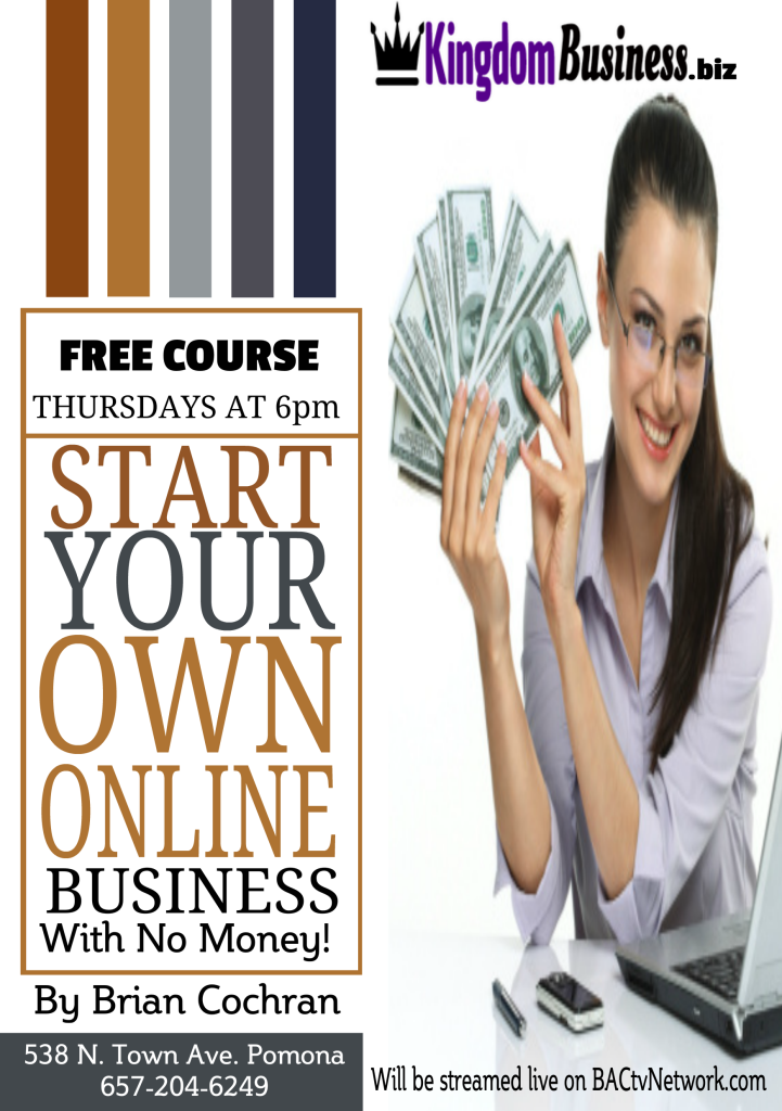 Start online biz flyer 1